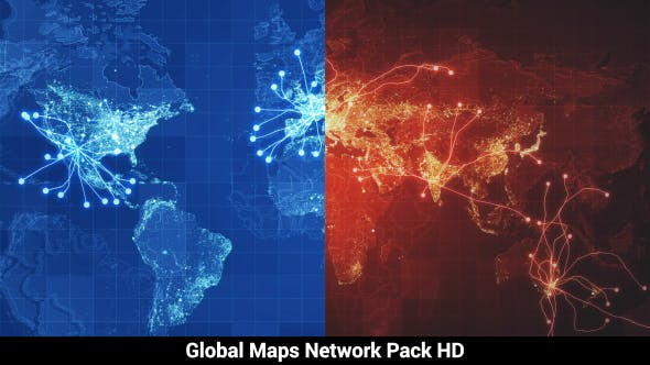 Thumbnail for Pack of 3 Global Maps Network HD