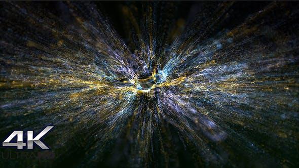 Fantastic Multicolor Particles Background