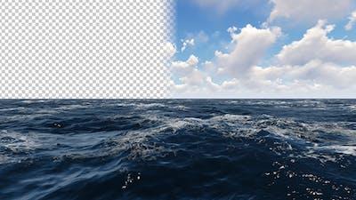 Sea Alpha Channel 4K