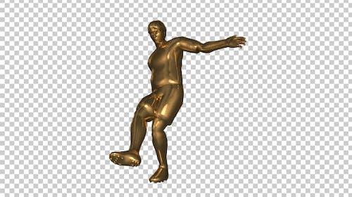 Golden Soccer Player Penalty Shoot