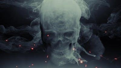 Animation Head Ghost Skull Smoke