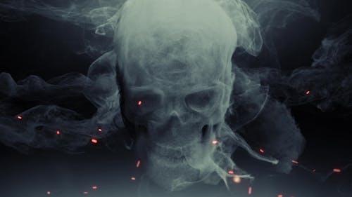 Animationskopf Ghost Totenkopf Smoke