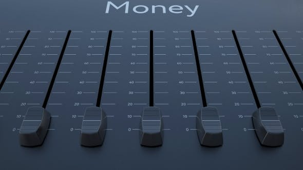 Thumbnail for Sliding Fader with Money Inscription