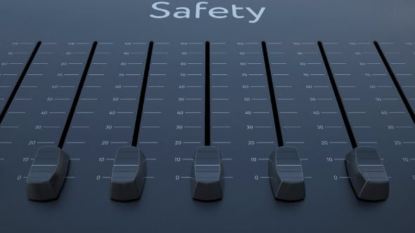 Thumbnail for Sliding Fader with Safety Inscription