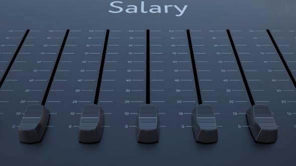 Thumbnail for Sliding Fader with Salary Inscription