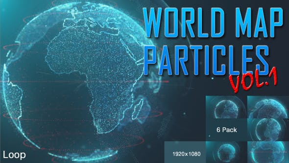Thumbnail for World Map Particles Vol.1