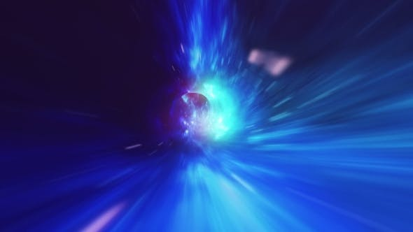Thumbnail for Abstract Flight in a Black Hole in Space