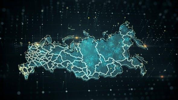 Thumbnail for Russia Danger Blue Map 4K
