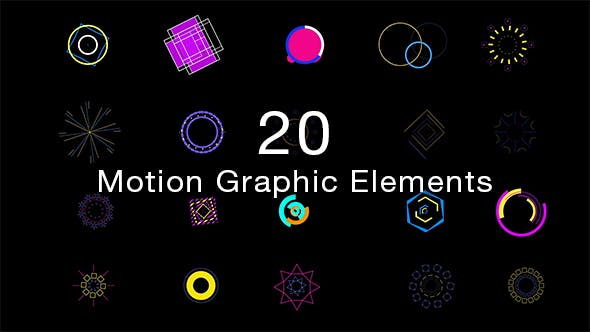 Thumbnail for 20 Motion Graphic Elements