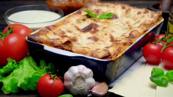 Thumbnail for Classic Lasagna with Bolognese and Bechamel Sauce