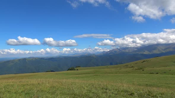 Thumbnail for View mountains scenes in national park Dombai, Caucasus