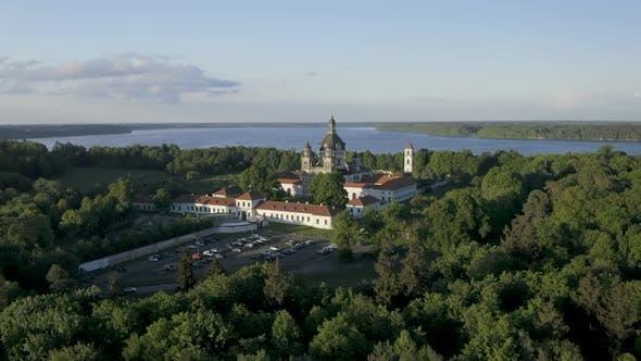 Pazaislis Monastery and Church In Evening Light