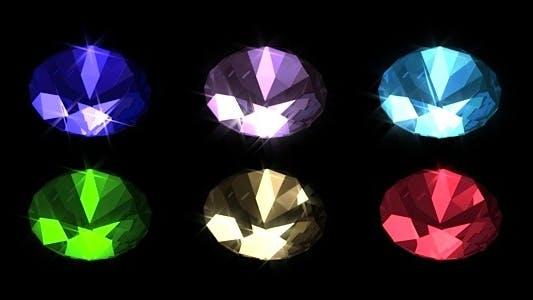 Thumbnail for Brilliant Gemstones - Pack 6 Loops