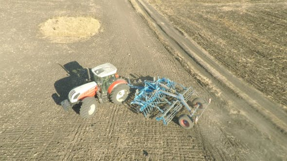 Thumbnail for Tractor Plowing - Aerial
