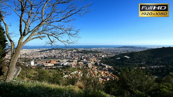 Thumbnail for Barcelona City Panoramic View from Tibidabo