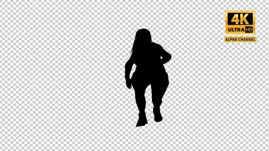 Thumbnail for Overweight Woman Dancing Silhouette-1