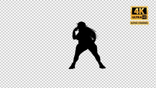 Thumbnail for Overweight Woman Dancing Silhouette-2