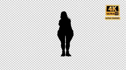 Thumbnail for Overweight Woman Dancing Silhouette-5