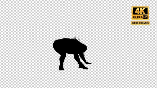 Thumbnail for Overweight Woman Dancing Silhouette-6