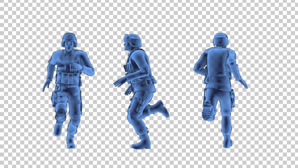 Thumbnail for SWAT Police 3D Outline