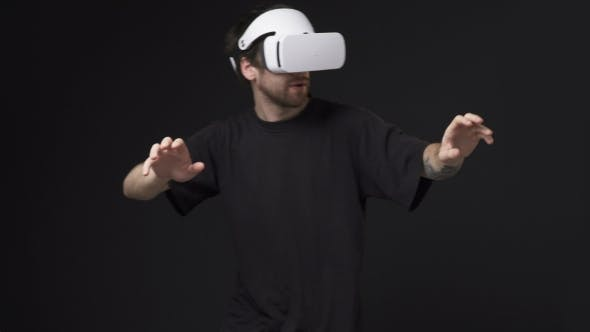 Thumbnail for Man Using Virtual Reality Headset
