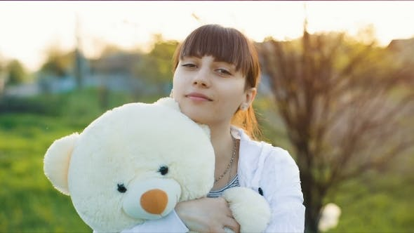 Thumbnail for Woman with White Bear