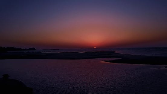 Thumbnail for Drone Flying Over Sea and Beautiful Sunset, India