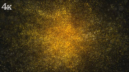 Golden Particles Magical Dust Background Loop