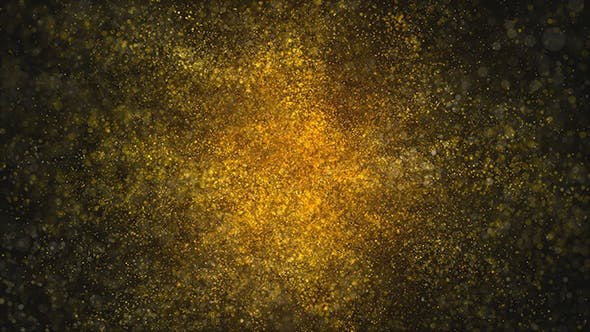 Thumbnail for Golden Particles Magical Dust Background Loop