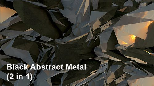 Black Abstract Metal (2in1)