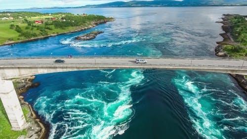 Whirlpools of the Maelstrom of Saltstraumen, Nordland, Norway