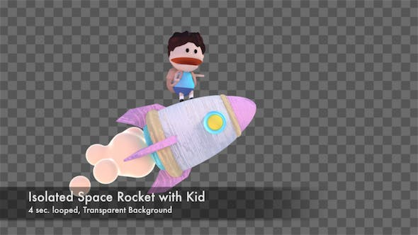 Thumbnail for Isolated Space Rocket with Kid