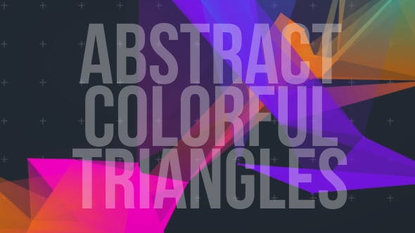 Abstract Colorful Triangle V1