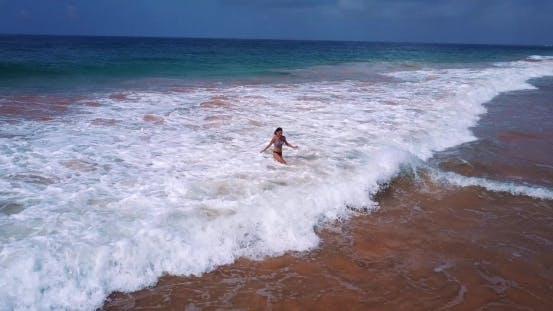 Thumbnail for Girl Running To the Ocean