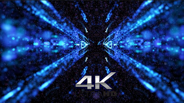 Thumbnail for Beautiful Blue Kaleido Particles Background