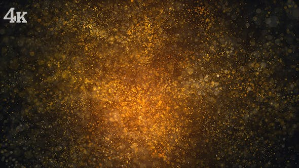 Thumbnail for Golden Particles and Bokehs Background