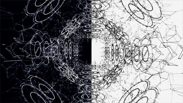Thumbnail for Plexus Abstract Black and White Hi-Tech Network