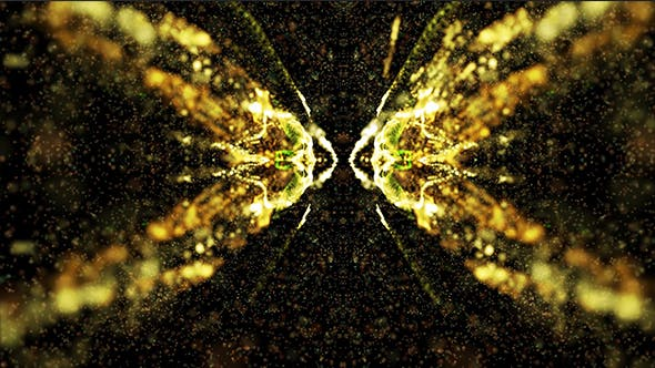 Thumbnail for Beautiful Gold Kaleido Particles Background