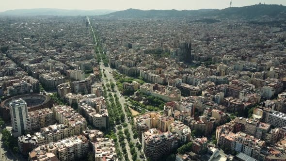 Cover Image for Barcelona City on a Sunny Day Spain