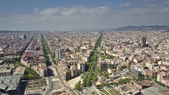 Thumbnail for Barcelona City View on a Sunny Day
