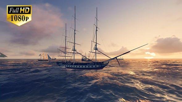 Thumbnail for Sailing Ship In An Ocean 2