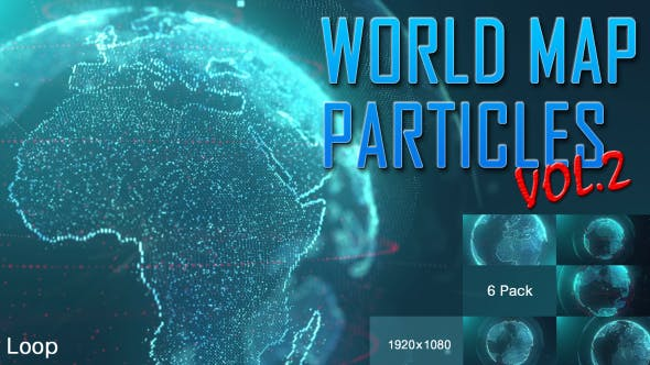 Thumbnail for World Map Particles Vol.2