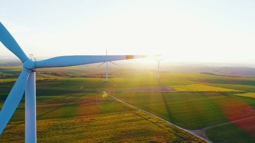 Windmills, Reneval Energy, Ecology Background