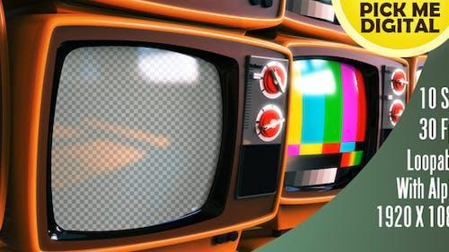 Retro TV Linksschwenken