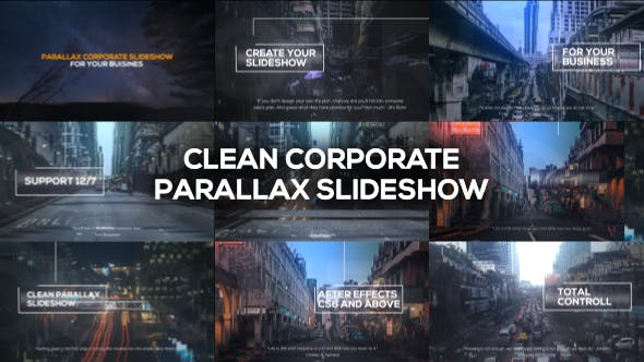 Thumbnail for Clean Corporate Parallax Slideshow