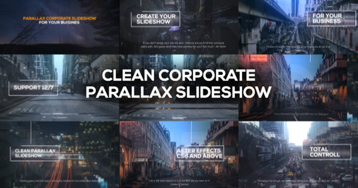 Download Clean Corporate Parallax Slideshow by RwTemplates