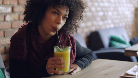 Thumbnail for Woman Drinking Fresh Smoothie