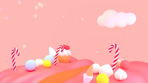 Cartoon Süße Süßigkeiten Welt