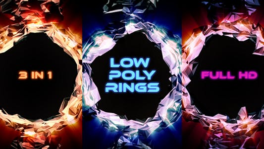 Thumbnail for Low Poly Glossy Rings