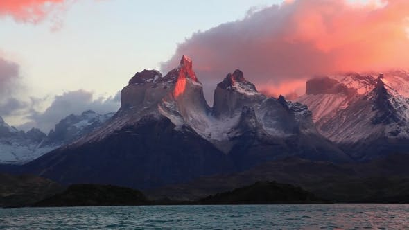 Lake Pehoe at Dawn Torres Del Paine, Chile